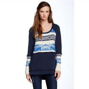 NWT New Free People blue marlin sweater M